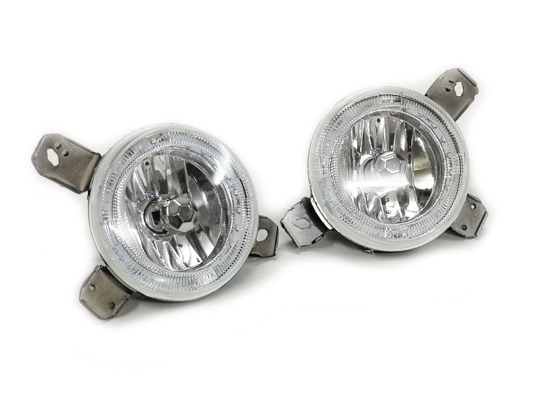 Quad Grille Angel Eye Clear Lens Inner Spot Light - Golf MK1 / MK2