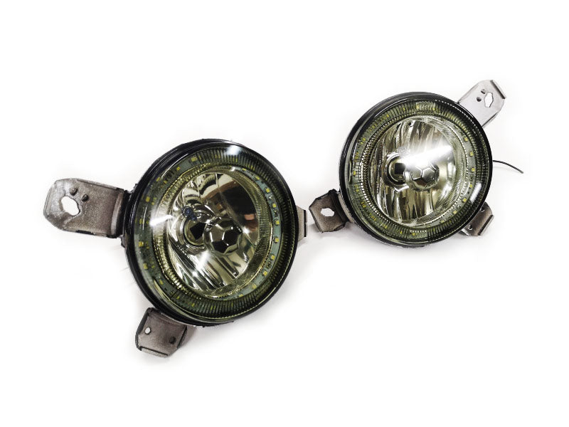 Quad Grille Angel Eye Smoke Lens Inner Spot Light - Golf MK1 / MK2
