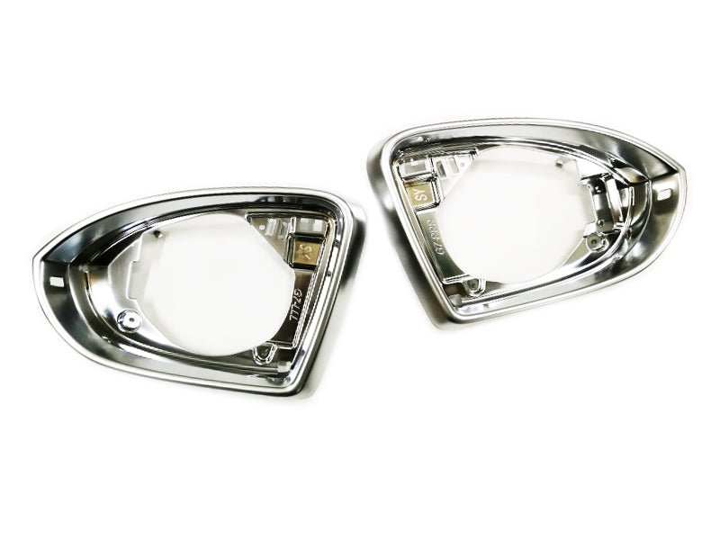 Matt Chrome Side Wing Mirror Trim Pair - Golf MK7