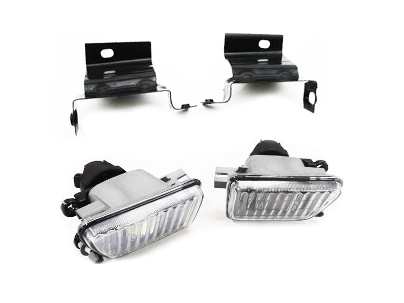 Big Bumper Clear Glass Fog Light With Bracket - Golf / Jetta MK2