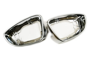 Matt Chrome Side Wing Mirror Trim Pair - Passat CC / Scirocco MK3 / Beetle