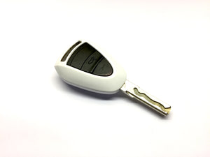 Remote Key Cover (Gloss White) For Porsche Black Head Remote Key