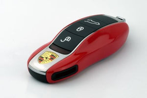 Remote Key Cover (Gloss Red) For Porsche Keyless Remote Key