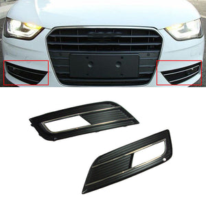 Front Fog Light Grille With Chrome Line Accent - A4 B8 Facelift