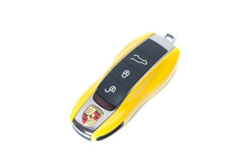 Remote Key Cover (Gloss Yellow) For Porsche Keyless Remote Key