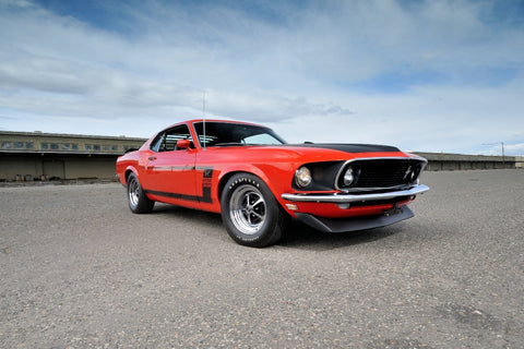 1969 Mustang Boss 302 Fastback Muscle Car Fabric Poster Print