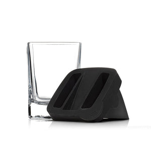 Whiskey Wedge - (Double Old Fashioned Glass + Silicone Ice Form)