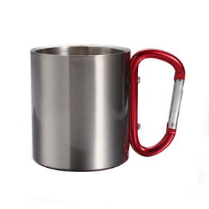 Metal Cup with Carabiner Handle for Outdoor Camping