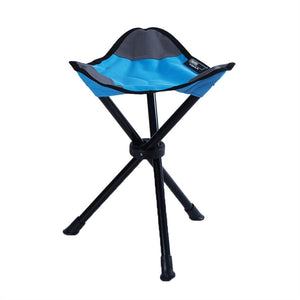 Small Folding Stool for Camping or Picnic (Blue)