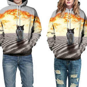 Fashion 3D Pattern Print Hoodie (Sizes for Men and Women)