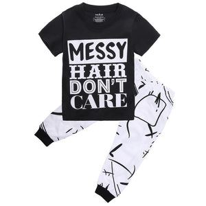 079efd102 Toddler Infant Newborn Kids Baby Girls Boys Outfit Clothes T shirt Tops  Long Pants Trousers 2PCS