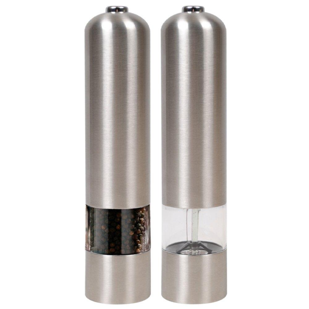 Stainless Steel Electric Salt / Pepper Grinder