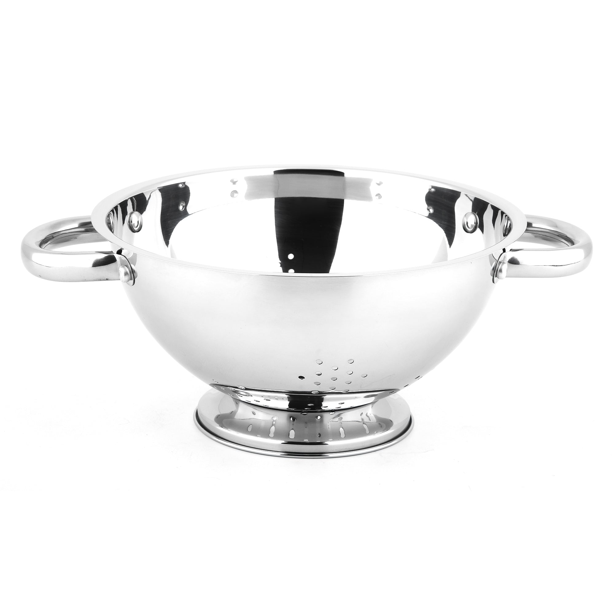 Two-Handled Stainless Steel Colander, 8 3/5 Inch
