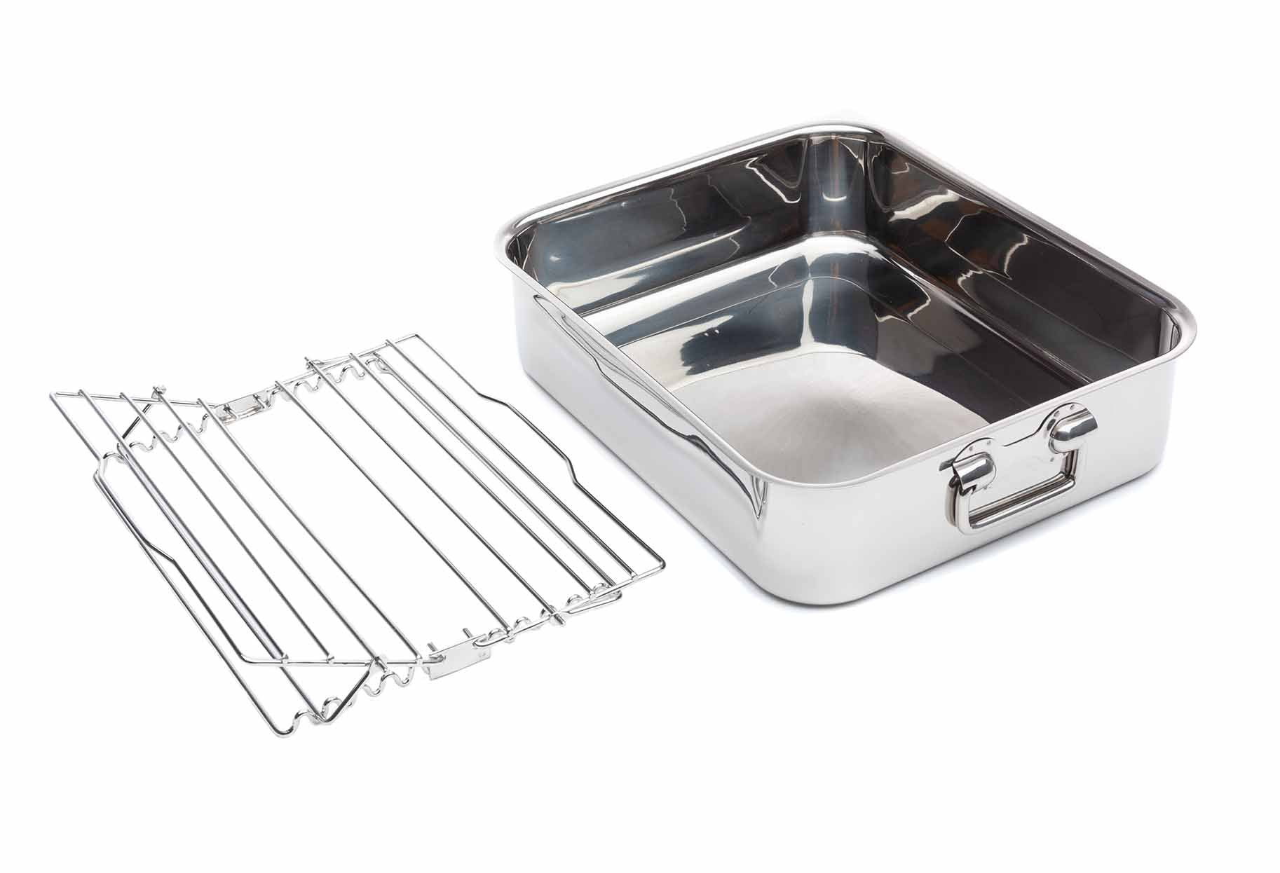 15 3/4″ Roasting Tray & Scissor Rack