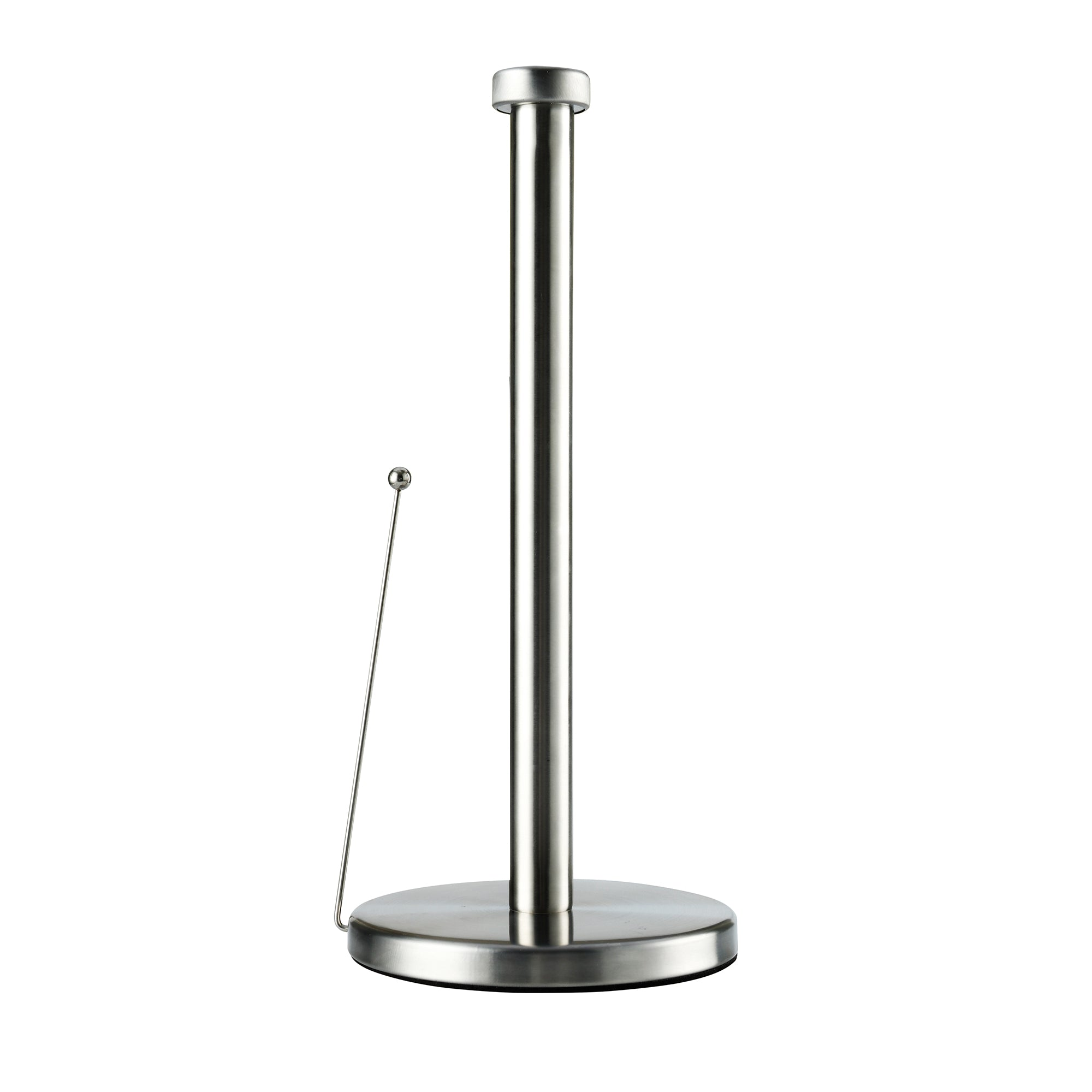 Brushed Steel Spring-Loaded Kitchen Towel Holder
