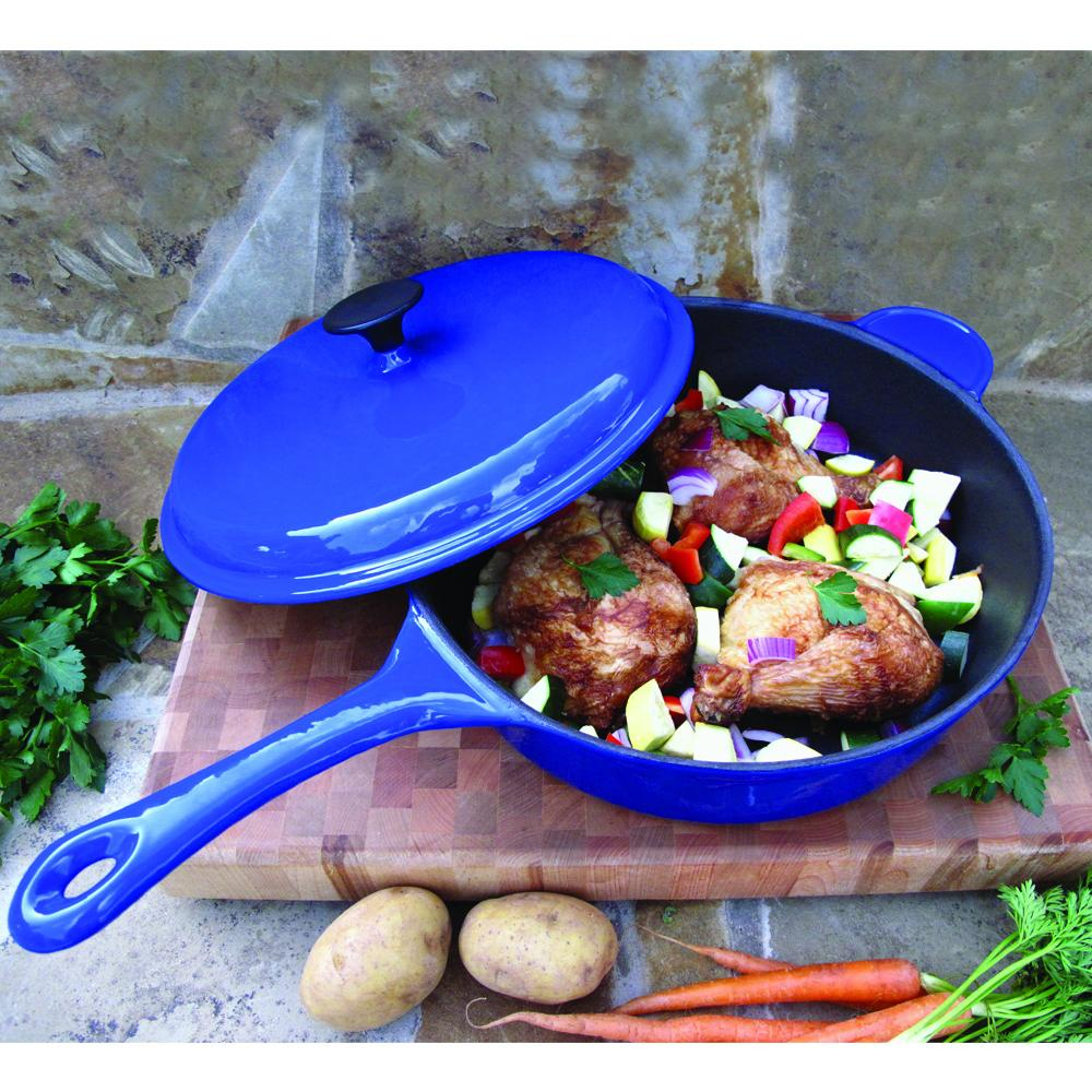 30cm Professional Cast Iron Deep Sauté Pan