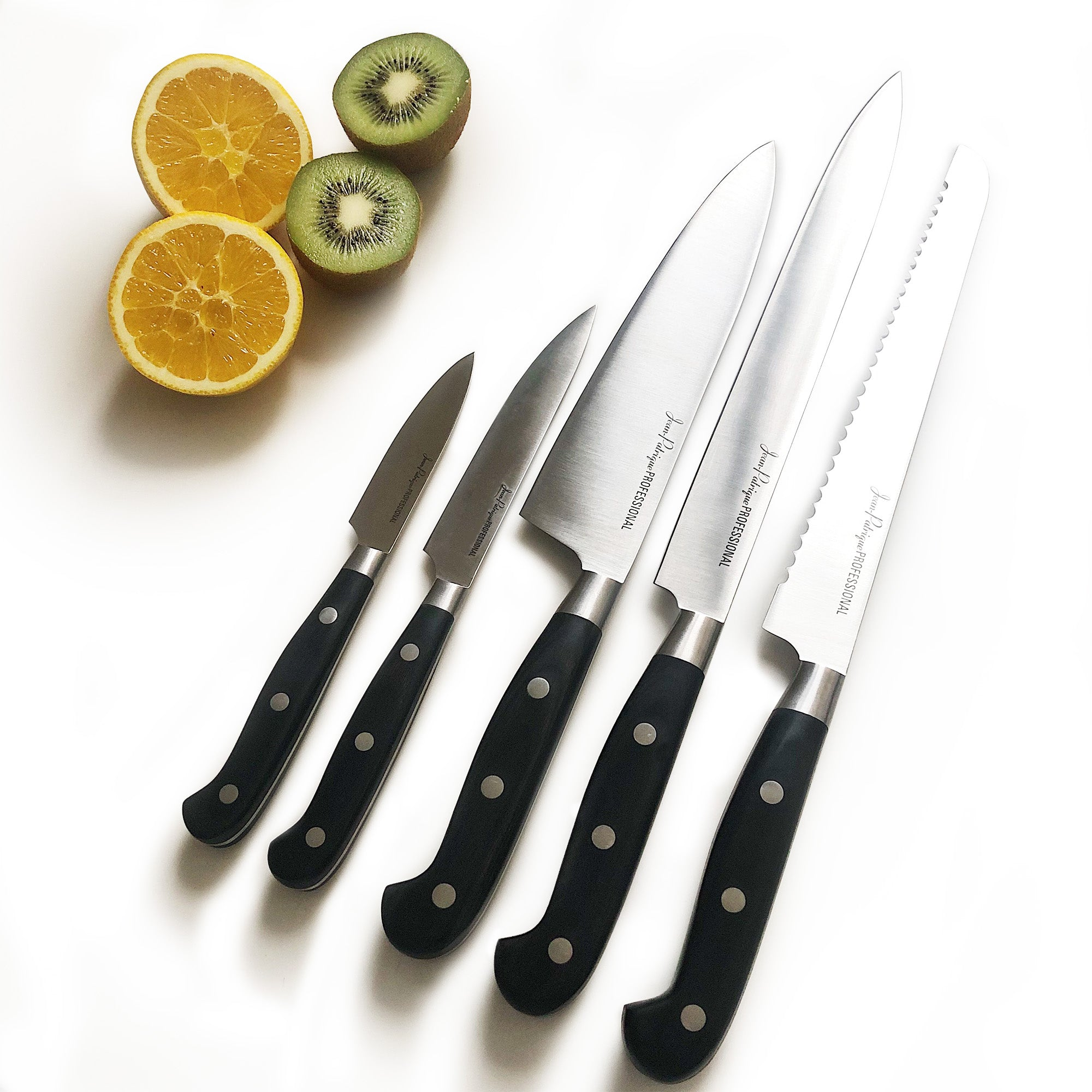 5-Piece Black Handled Knife Set