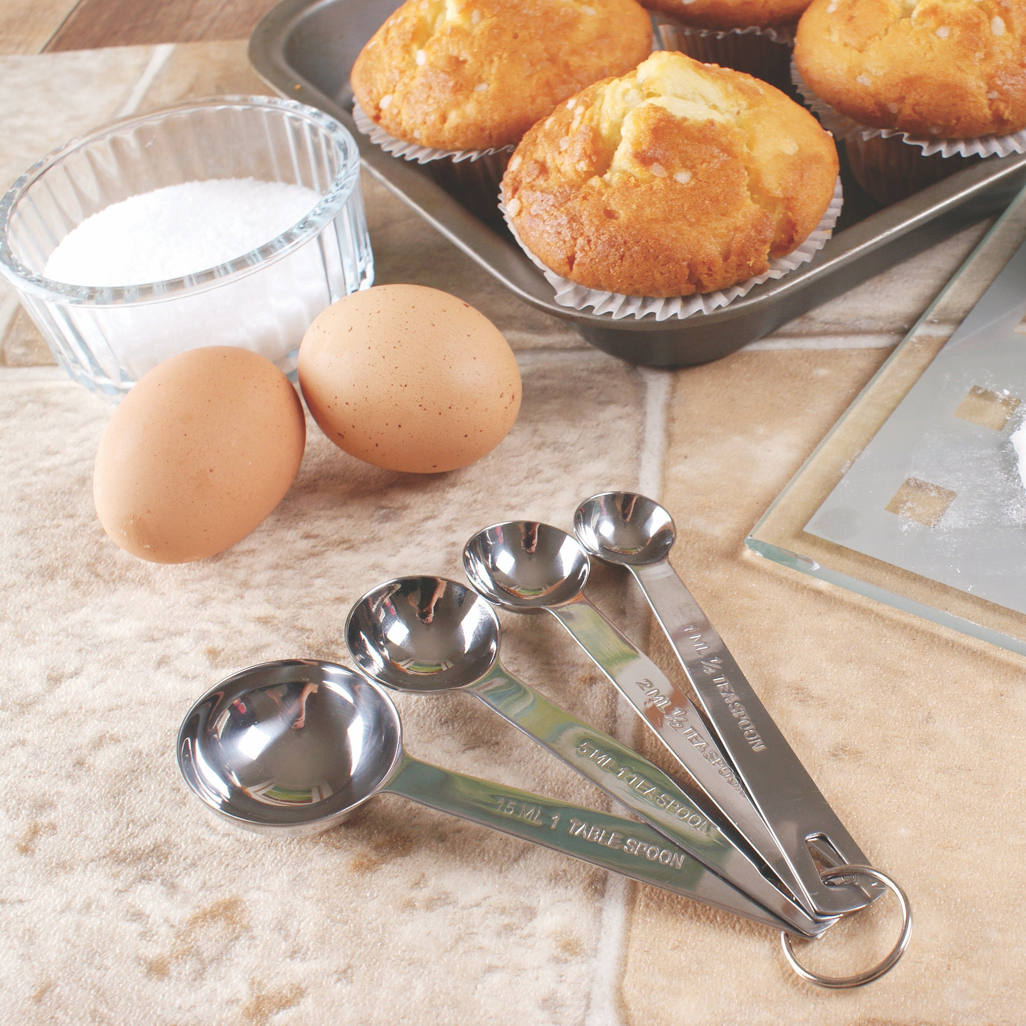 Chef's Stainless Steel Measuring Spoons - Set of 4