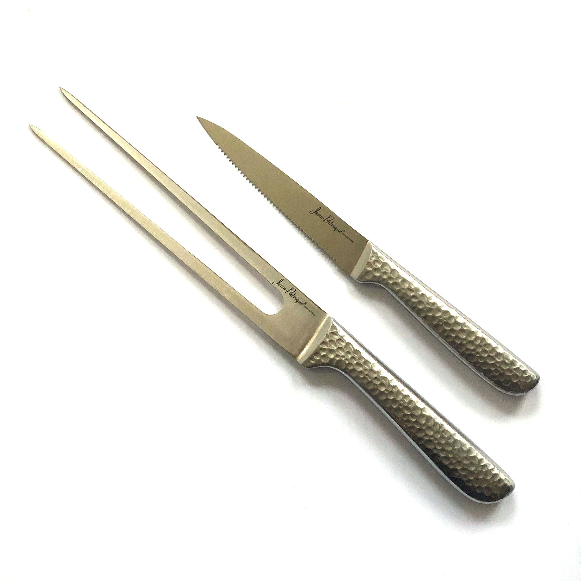 Serrated Carving Knife and Meat Fork Set