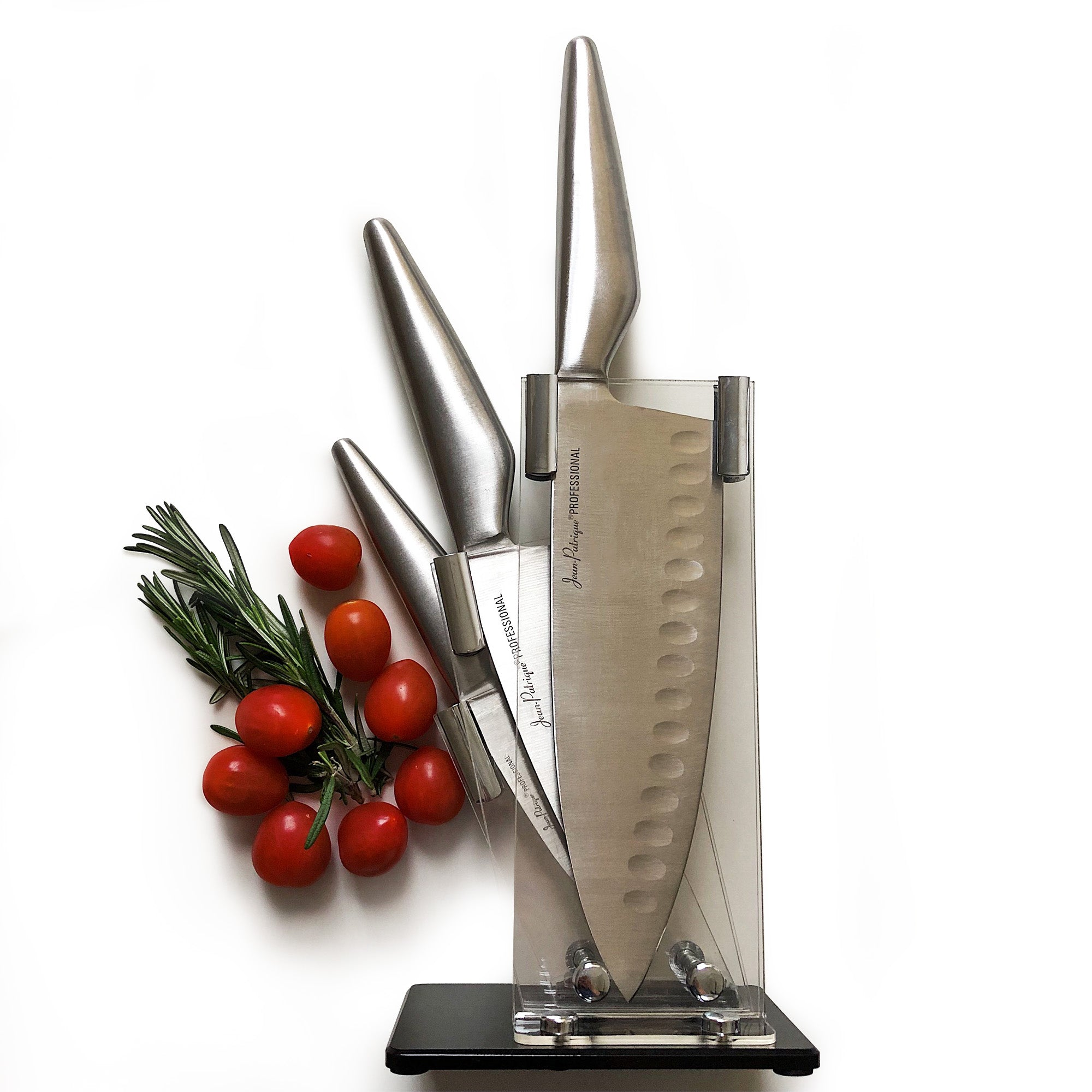 Perspex Knife Block for the Jean Patrique Signature 3-Piece Knife Set