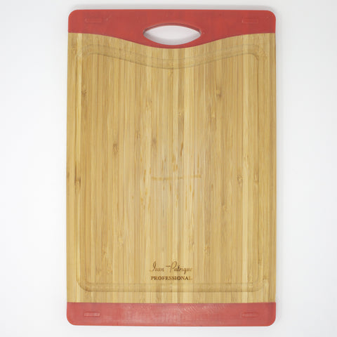 Bamboo Chopping Boards with Silicone Ends - Medium (Red)