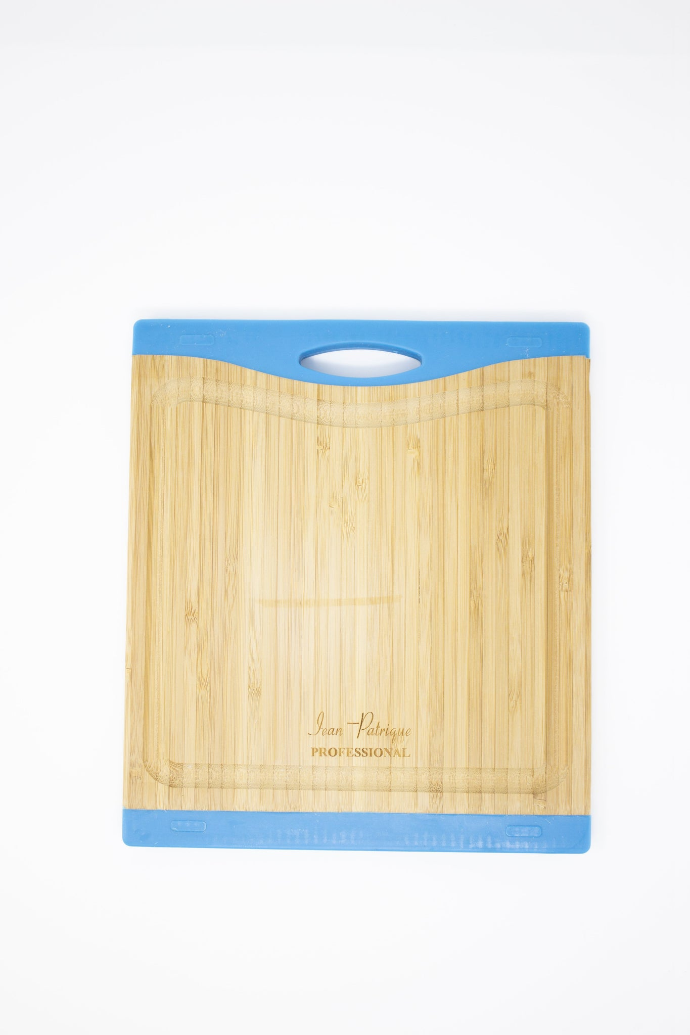 Bamboo Chopping Boards with Silicon Ends - Small (Blue)