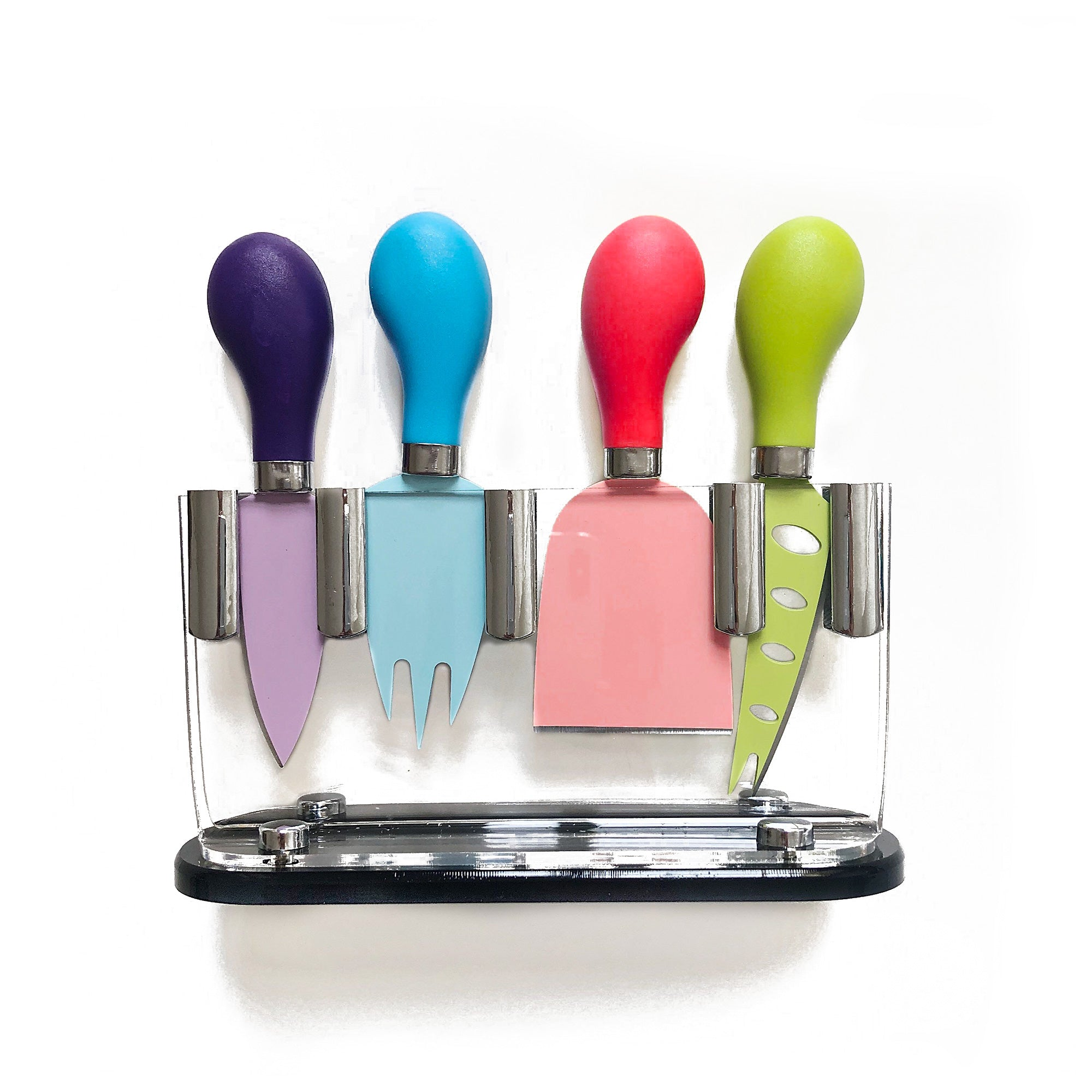 Vibrant Cheese Knife Set & Block