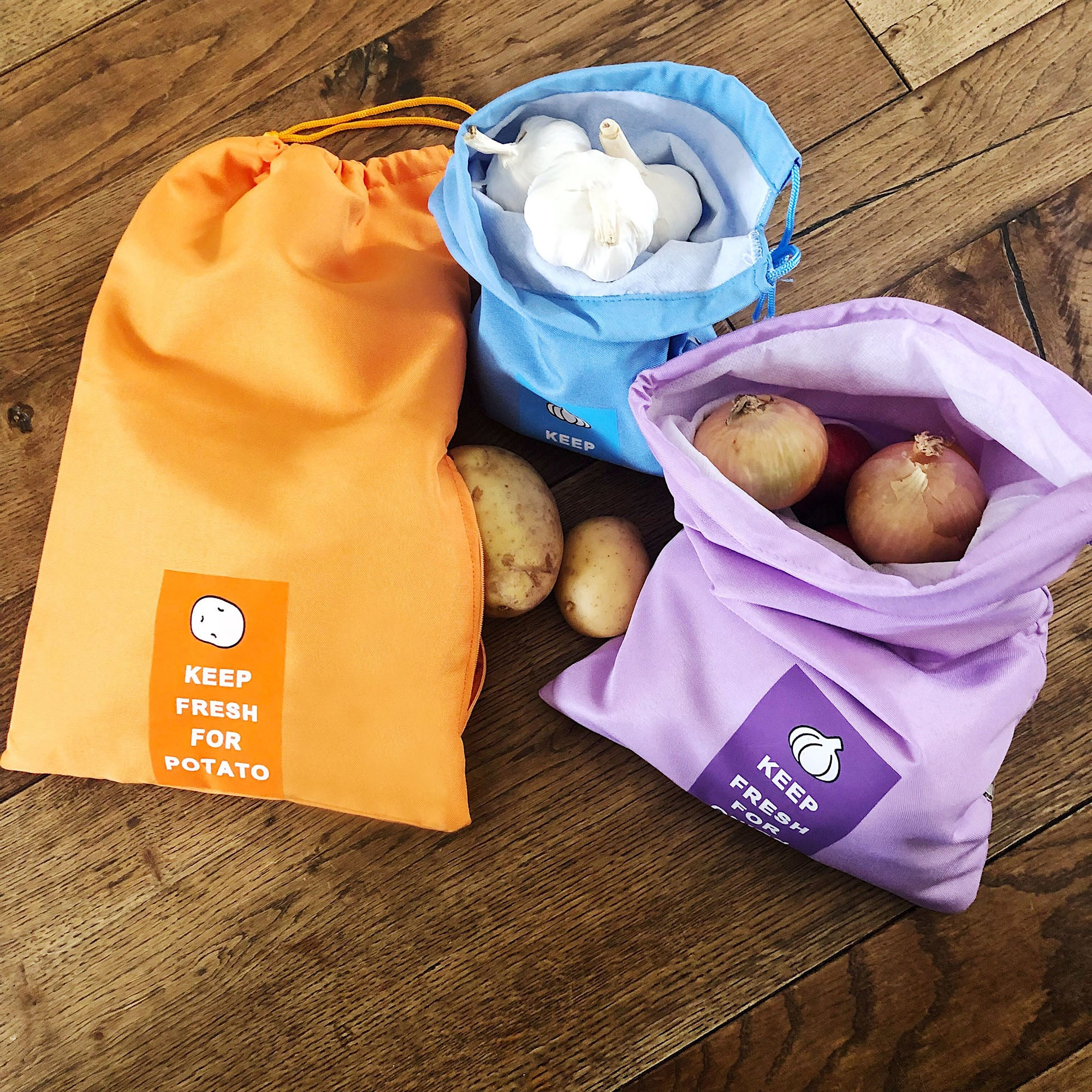 Set of 3 Onion/Potato/Garlic Preserving Bags