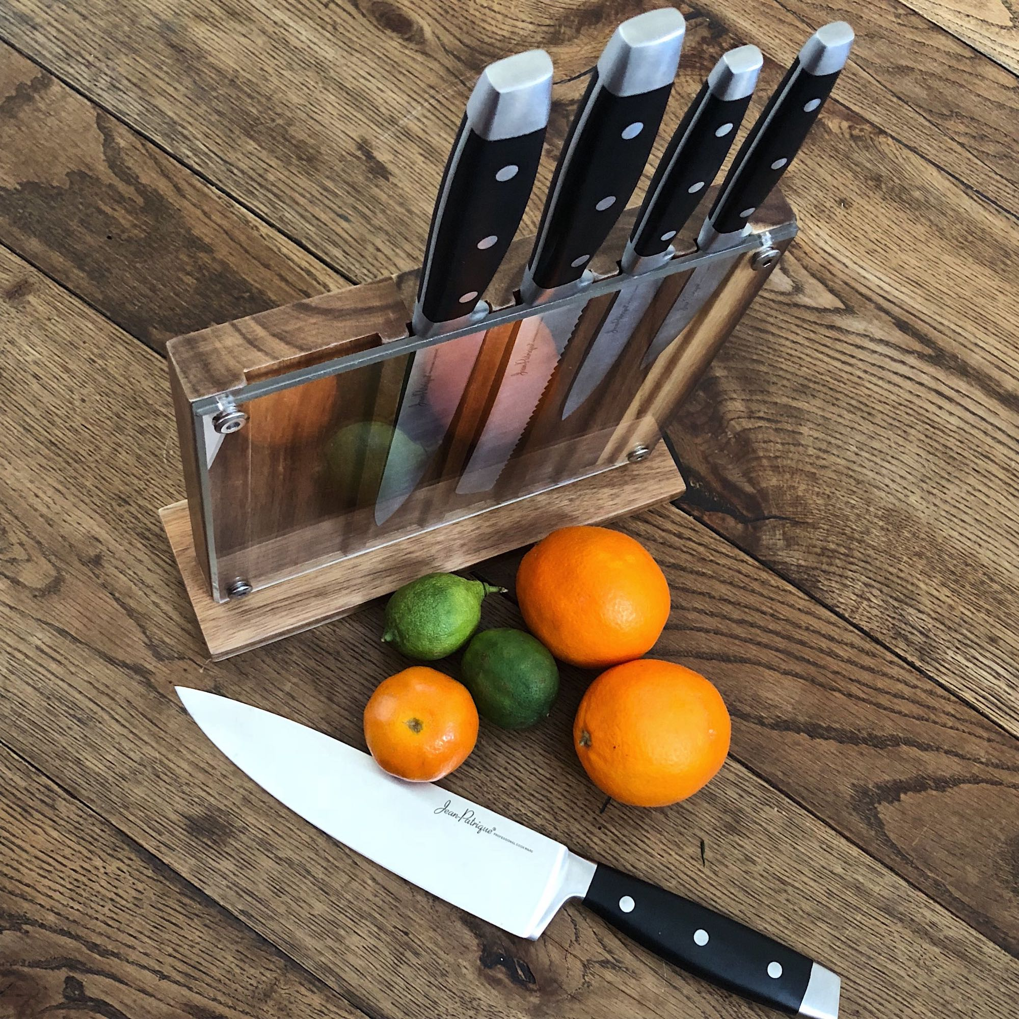 Onyx Collection 5 Kitchen Knife Set with Acrylic Block - Set of 5