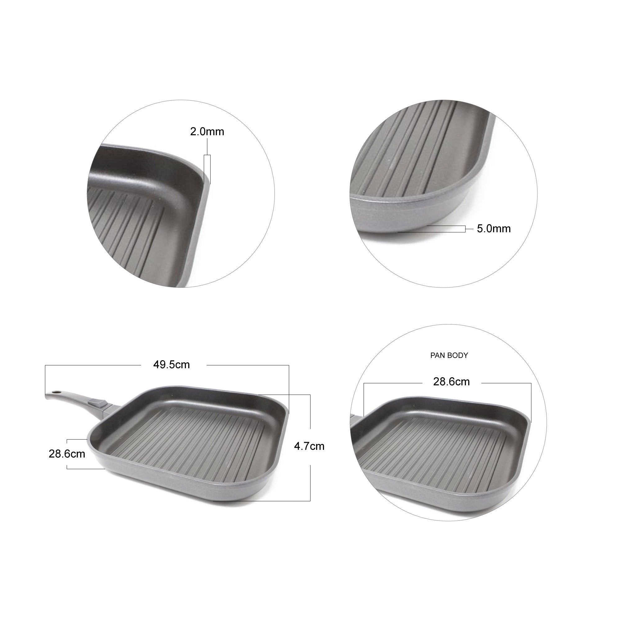 The Anything Pan - Non-stick Griddle Pan with Detachable Handle