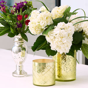 Mercury Glass Vases Silver Green