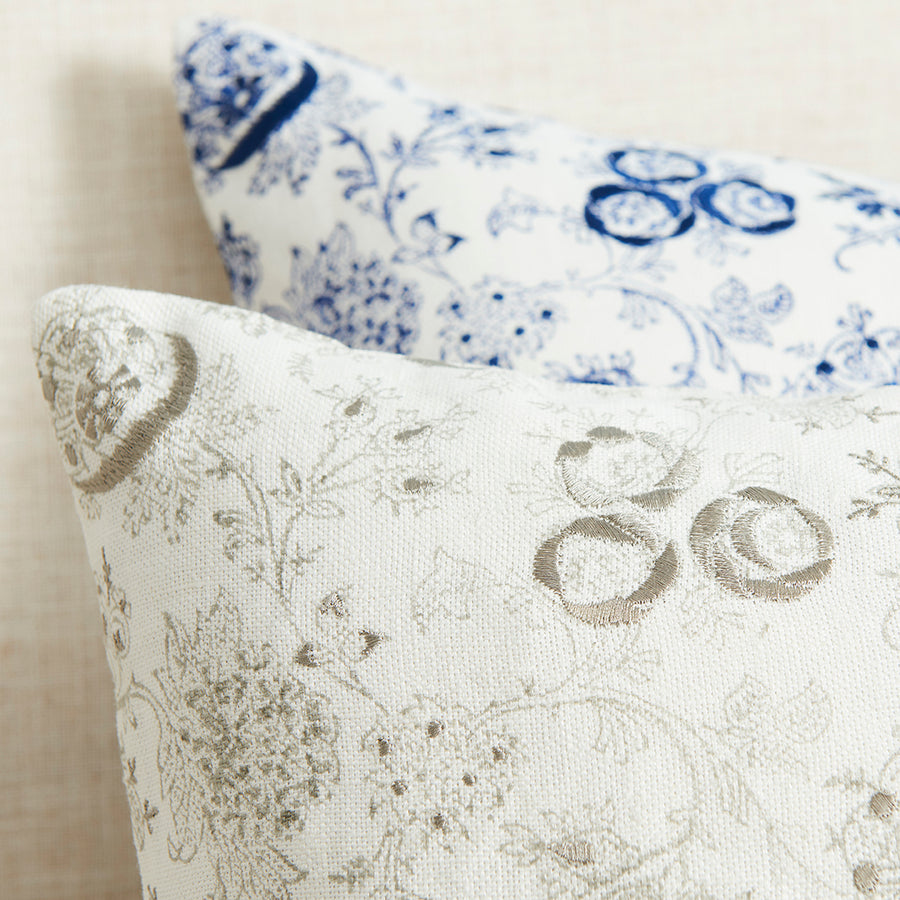 Eloquence printed linen pillow