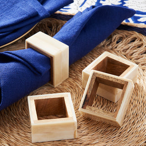 Load image into Gallery viewer, Two-Toned Bone Napkin Rings (Set/4)