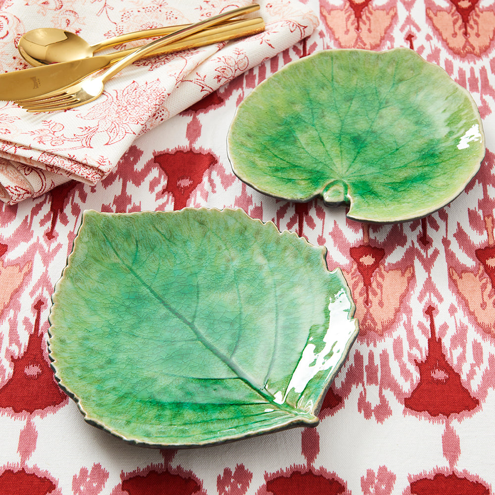 Glazed Leaf Plates (Set/2)