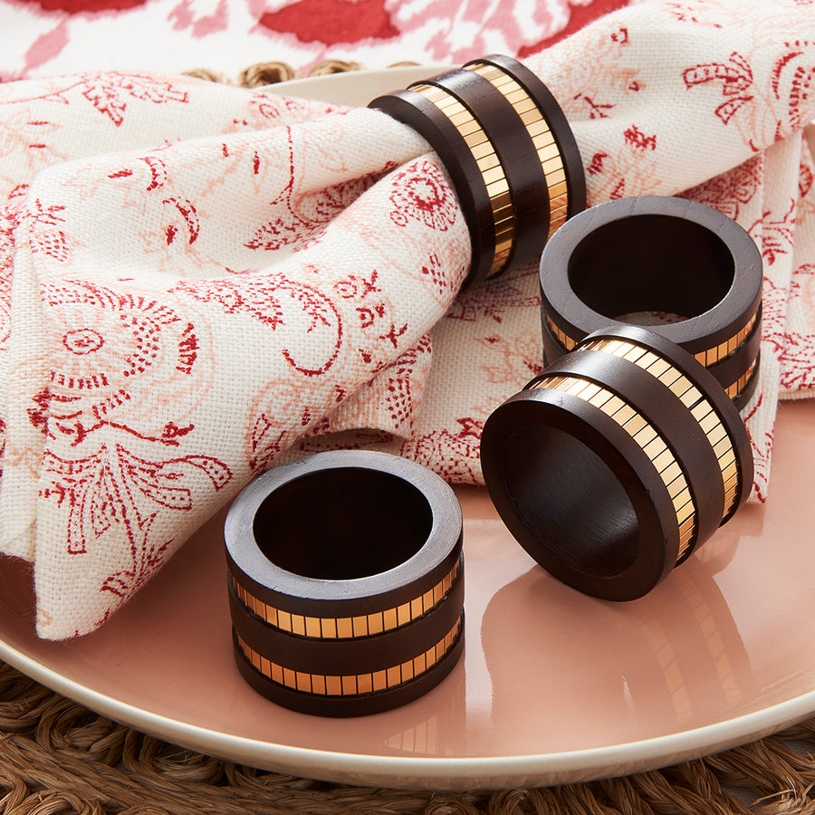 Faceted Napkin Rings (Set/4)