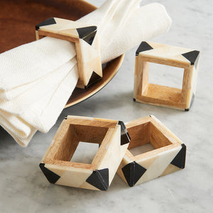 Load image into Gallery viewer, Graphic Bone Napkin Rings (Set/4)