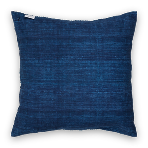 Embroidered Pillow Linen Navy Back