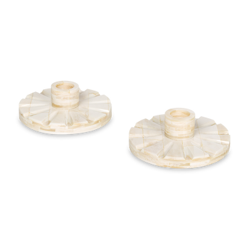 Bone Candle Holders (Pair)