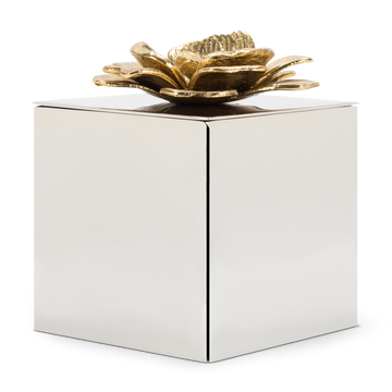 Brass Silver Flower Box