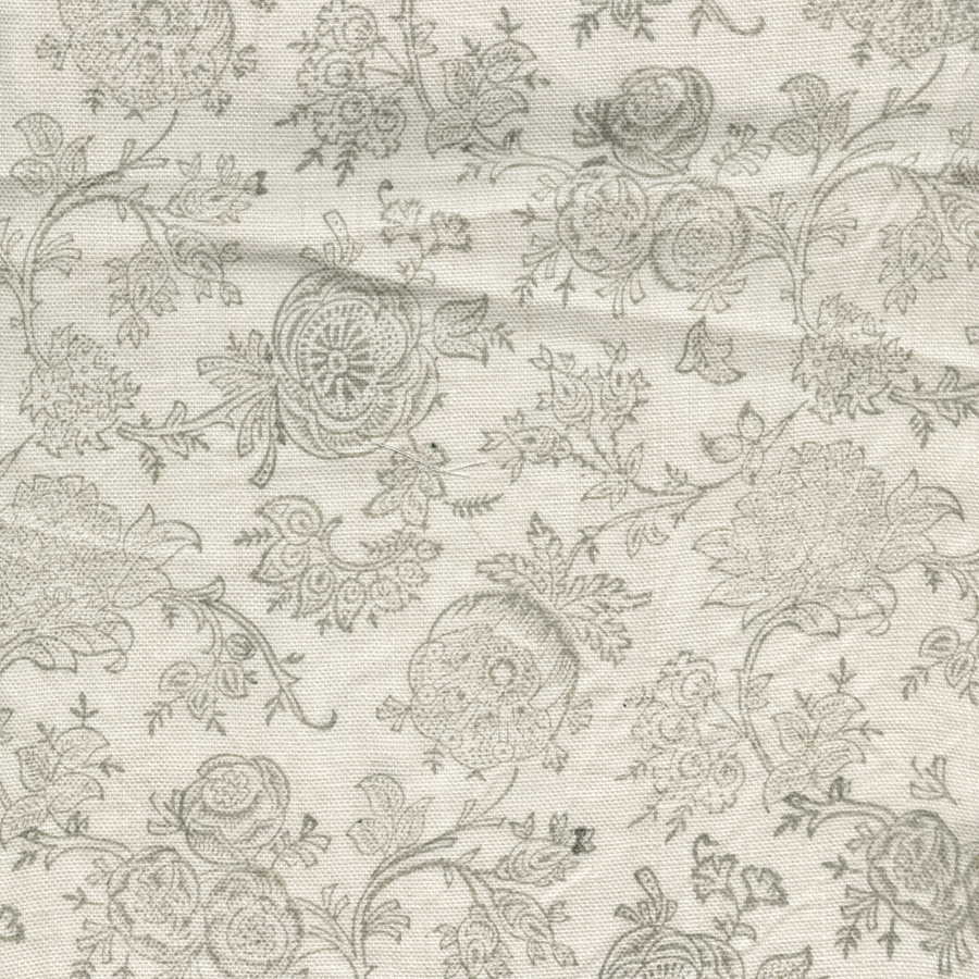Eloquence printed linen fabric gray