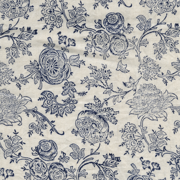 Eloquence printed linen fabric navy