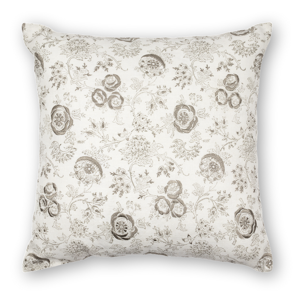 Eloquence printed linen pillow gray