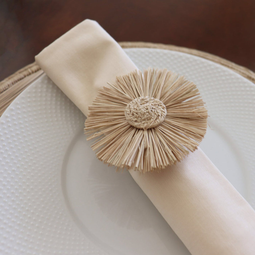 Load image into Gallery viewer, Fringe Flower Napkin Ring