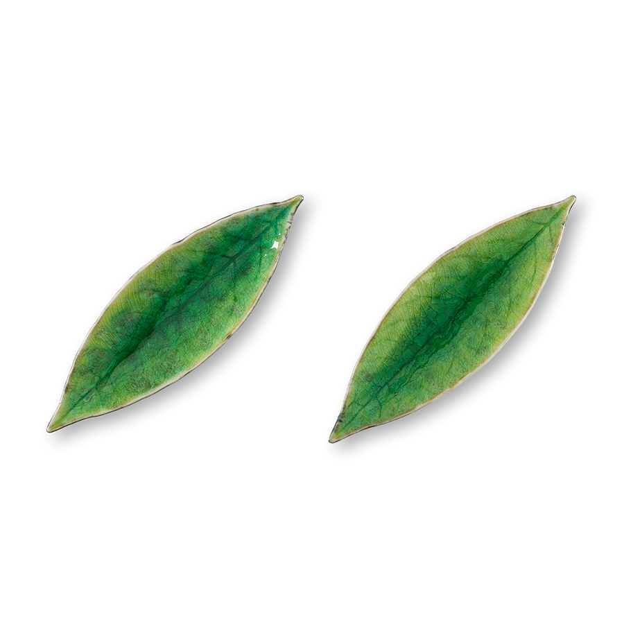 Glazed Leaf Accent (Set/2)