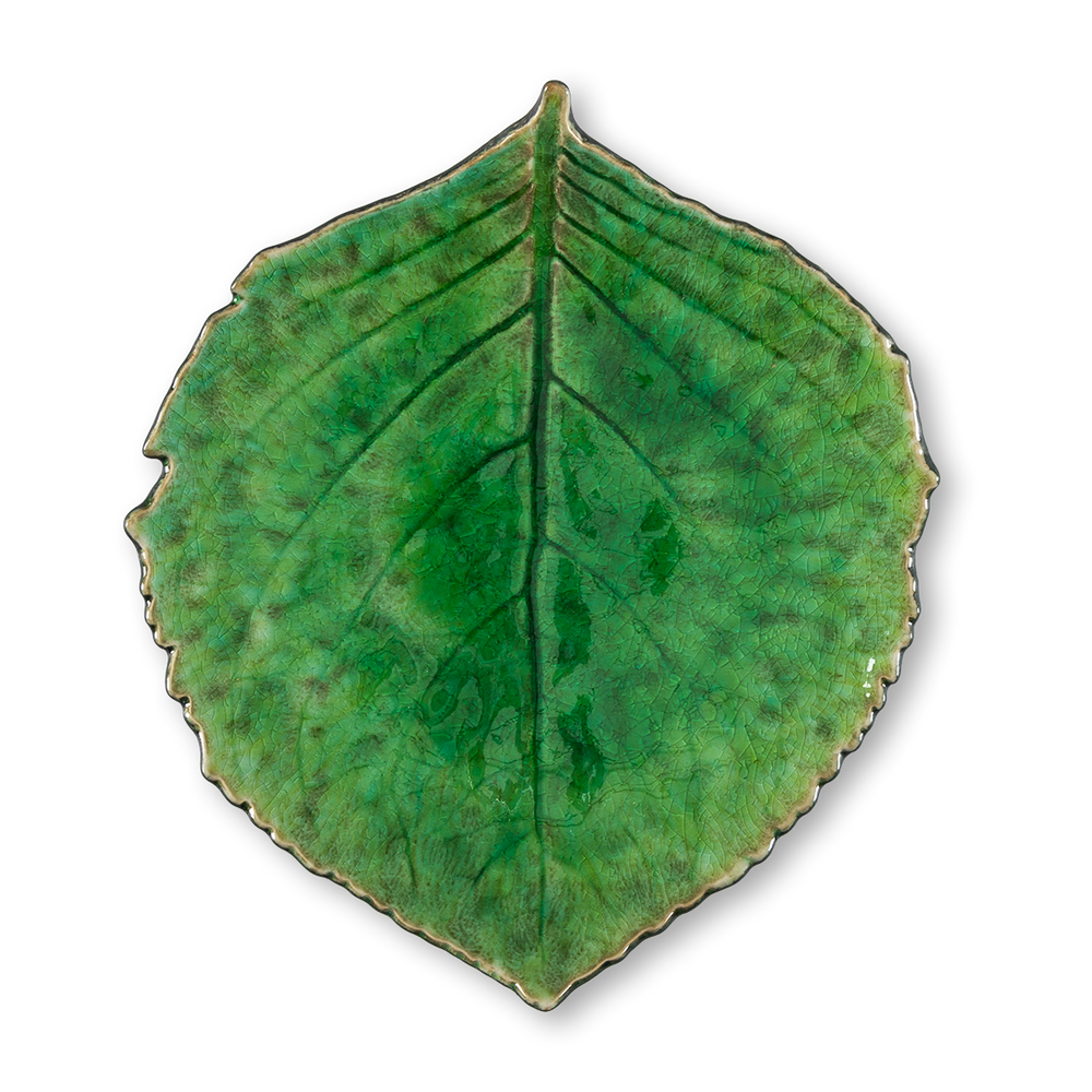 Load image into Gallery viewer, Glazed Leaf Plates (Set/2)