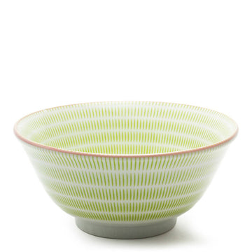 Striped Green Dinnerware (Set/6)