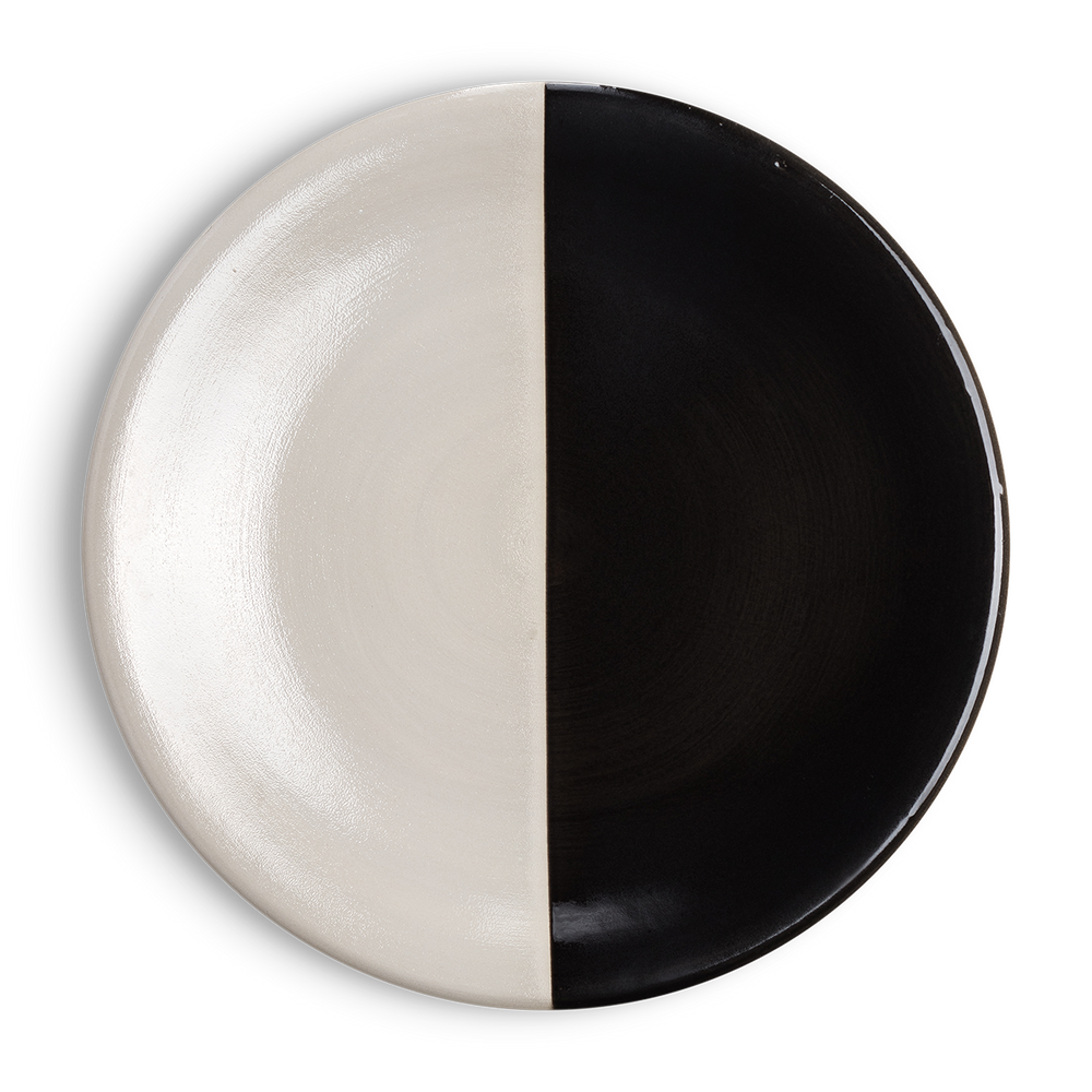 Load image into Gallery viewer, Black and White Dinner Plate
