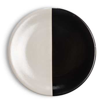 Black and White Dinner Plate