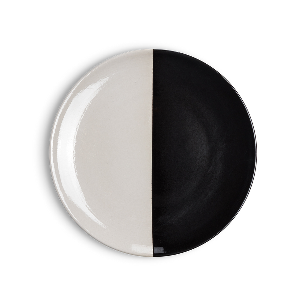 Black and White Salad Plate