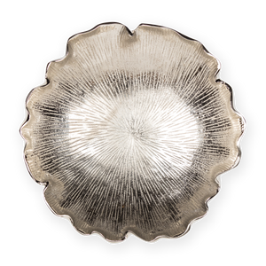 Metal Leaf Bowl Silver